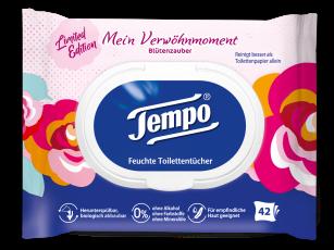 """Tempo Feuchte Toilettentücher limitierte Edition """"Mein Verwöhnmoment – Blütenzauber"""""""