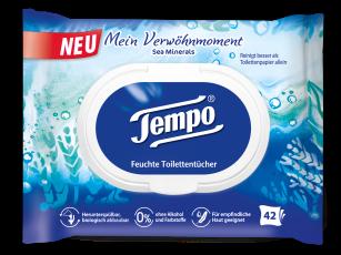 """Tempo Feuchte Toilettentücher """"Mein Verwöhnmoment – Sea Minerals"""""""