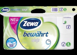 Zewa Toilettenpapier Bewährt 3-lagig, 8 x 150 Blatt (8 Rollen).png