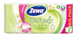 Zewa Туалетний папір  Deluxe Ромашка
