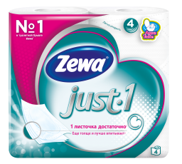 Zewa Туалетний папір  Just1 Білі