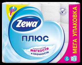 Zewa Туалетний папір  Плюс Біла